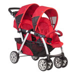 Poussette multiplaces double together red de Chicco