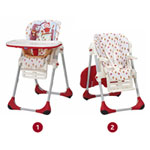 Chaise haute bébé polly 2 en 1 happy land pas cher
