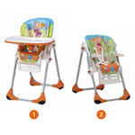 Chaise haute bébé polly 2 en 1 wood friends pas cher