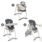 Chaise haute bébé polly magic graphite pas cher