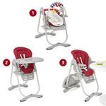 Chaise haute bébé polly magic paprika pas cher