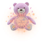 Veilleuse peluche ourson projecteur first dream rose
