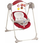 Balancelle bébé polly swing up red pas cher