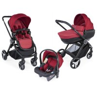 Pack poussette trio best friend comfort red