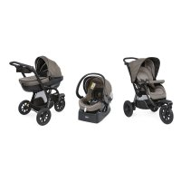 Pack poussette trio activ3 top dark beige