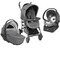 Pack poussette trio living smart losange