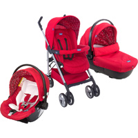 Pack poussette trio sprint red