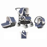 Pack poussette trio mycity blue