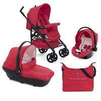 Pack poussette trio sprint black red passion