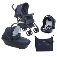 Poussette combiné trio sprint black blue passion