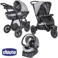 Poussette combiné trio activ3 top dark grey