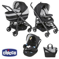 Pack poussette trio love up jet black