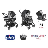 Pack poussette trio love up i-size jet black