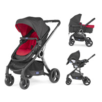 Pack poussette trio urban plus red wave