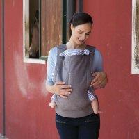 Porte bébé myamaki grey stripes