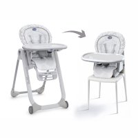 Chaise haute bébé polly progres5 grey