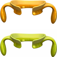 Poignées step up vert/jaune 4 mois+
