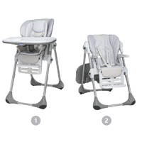 Chaise haute bébé polly 2 en 1 artic
