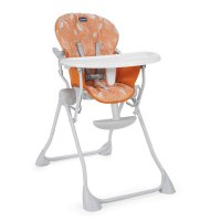 Chaise haute bébé pocket meal happy orange