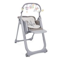 Chaise haute polly magic relax - 4 roues cocoa