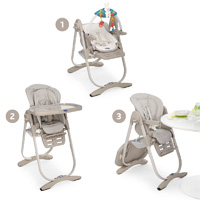 Chaise haute bébé polly magic mirage