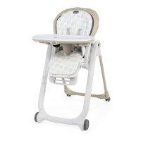 Chaise haute bébé polly progres5 - 4 roues beige