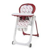 Chaise haute bébé polly progres5 - 4 roues red
