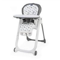 Chaise haute bébé polly progres5 - 4 roues grey