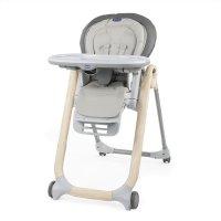 Chaise haute bébé polly progres5 - 4 roues scandinavian wood