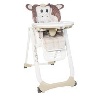 Chaise haute polly 2 start 4 roues monkey