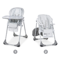 Chaise haute bébé polly 2 en 1 polaris