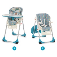 Chaise haute bébé polly 2 en 1 sea dreams