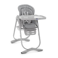 Chaise haute bébé polly magic light grey