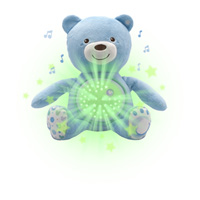 Veilleuse peluche ourson projecteur first dream bleue