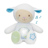 Peluche musicale mouton tendres mots doux bleu first dream
