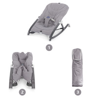 Transat bébé pocket relax gris