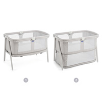 Berceau bébé lullago zip light grey