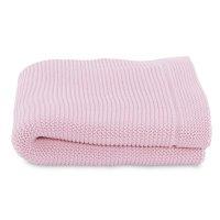 Couverture tricot en maille 100% coton miss pink
