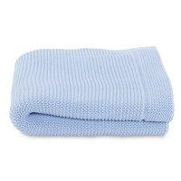 Couverture tricot en maille 100% coton ocean