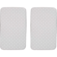 Lot de 2 draps housse next 2 me silver