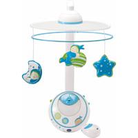 Moblie bébé double projection bleu