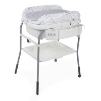 Table à langer avec baignoire cuddle & bubble cool grey