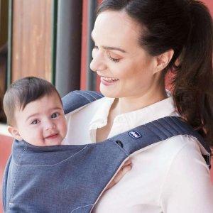 Porte bébé myamaki denim cyclamen