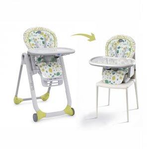 Chaise haute bébé polly progres5 kiwi