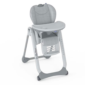 Chaise haute bébé polly 2 start happy silver