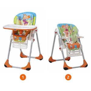 Chaise haute bébé polly 2 en 1 wood friends