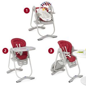 Chaise haute bébé polly magic paprika