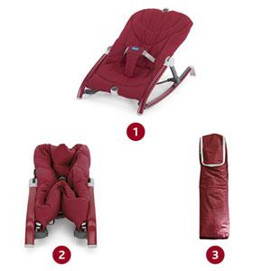 Transat bébé pocket relax rouge