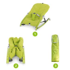 Transat bébé pocket relax vert