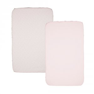 Lot de 2 draps housse next 2 me miss pink